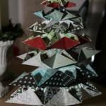 Juletræ i scrap-papir