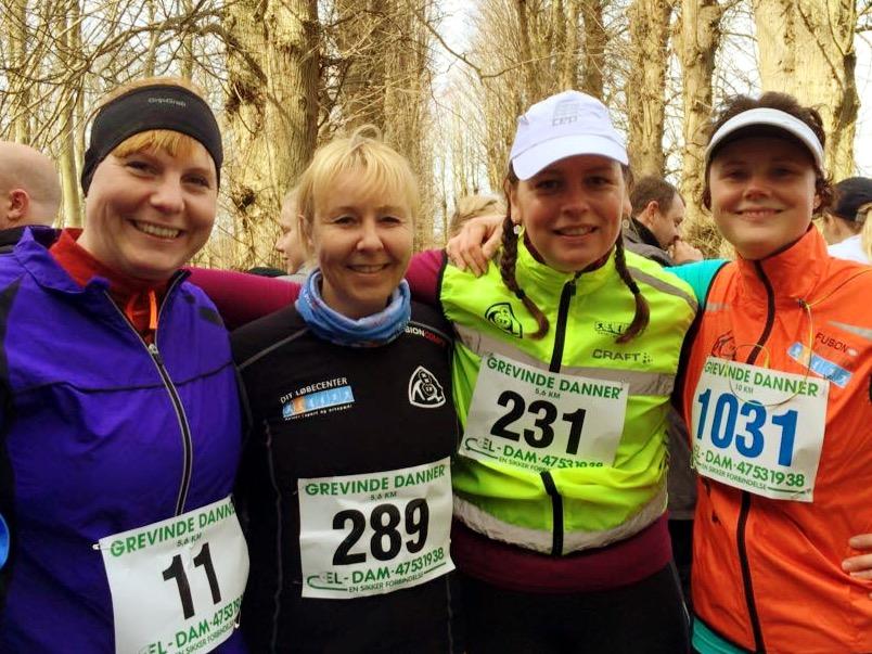 Fra venstre: mig selv, Christina, Linda og Sofie H.