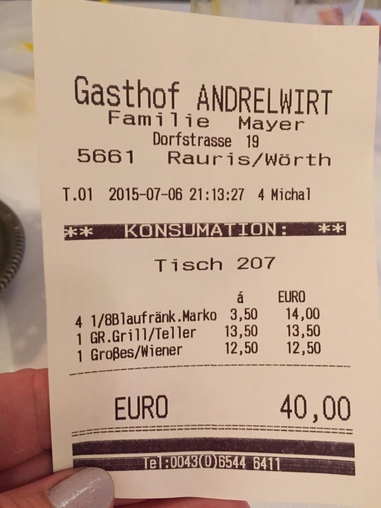Dejlig mad! (Euroen står i dag i kurs 746)