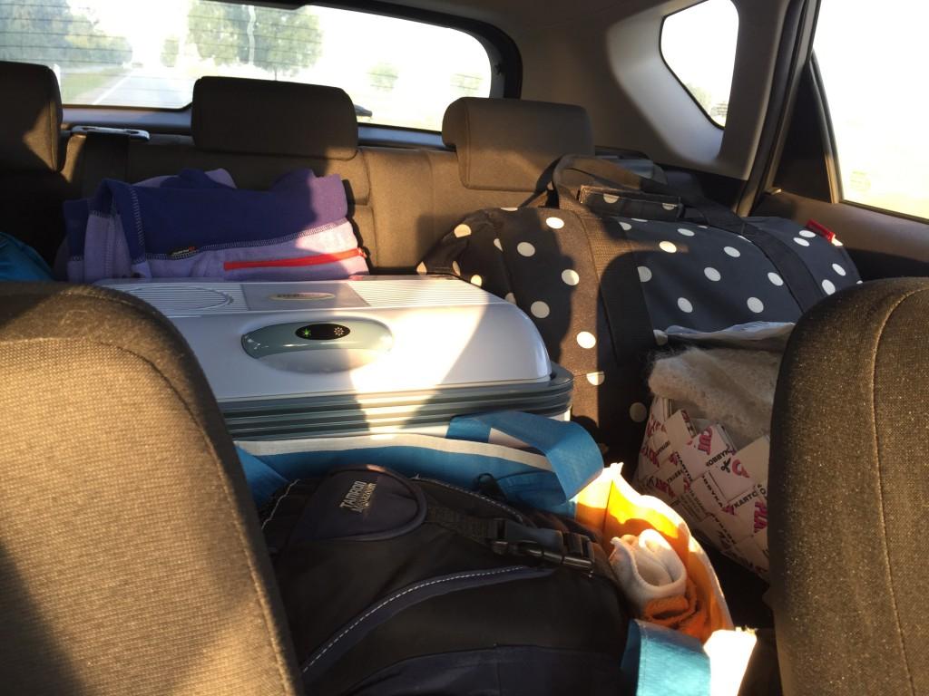 Der er pakket (Ego og Tapaz har hele bagagerummet) og Michael og jeg er køreklar.