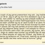 Nye vaner og tildeling af coach