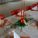 Blomsterdekorationer til familiefest
